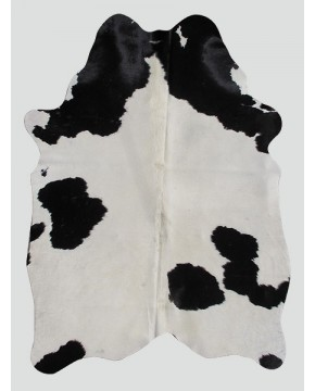 Cream Black Cowhide Rug CH0007