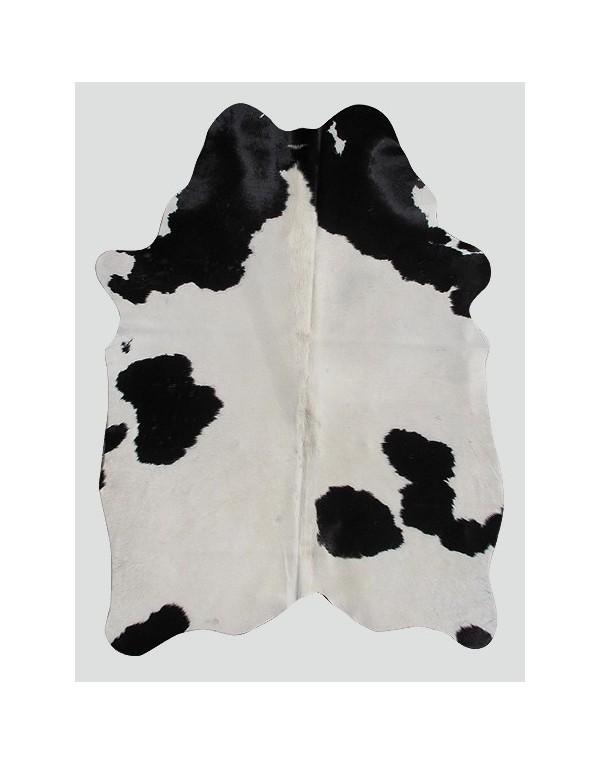 Cream Black Cowhide Rug CH0007