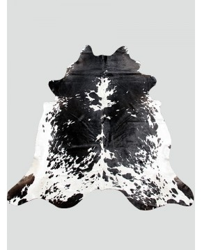 Large Black & White Cowhide Rug CH0015