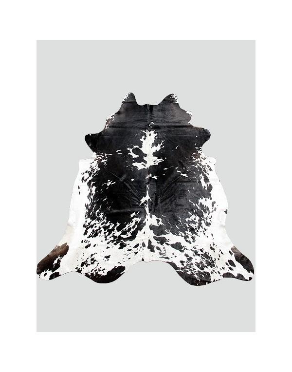 Large Black & White Cowhide Rug CH0015