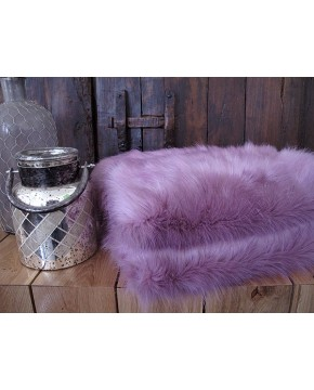 Faux Fur Throw Foxglove