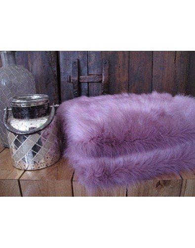 Faux Fur Throw Foxglove