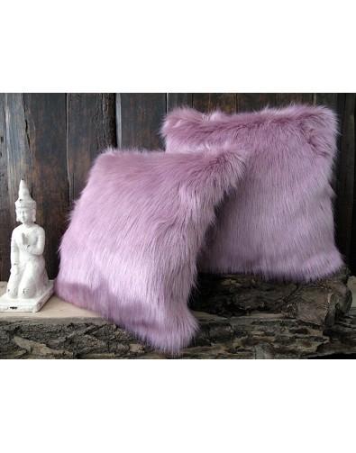 Faux Fur Cushions, Faux Fur Cushion Foxglove , faux-fur-throws
