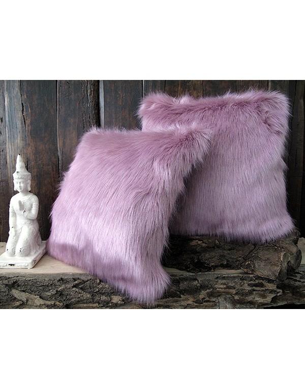 Faux Fur Cushion Foxglove