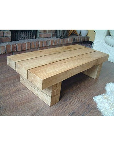 Oak Coffee Tables, Slim 3 Beam Solid Light Oak Coffee Table , faux-fur-throws
