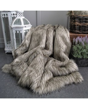 Raccoon Faux Fur Throw