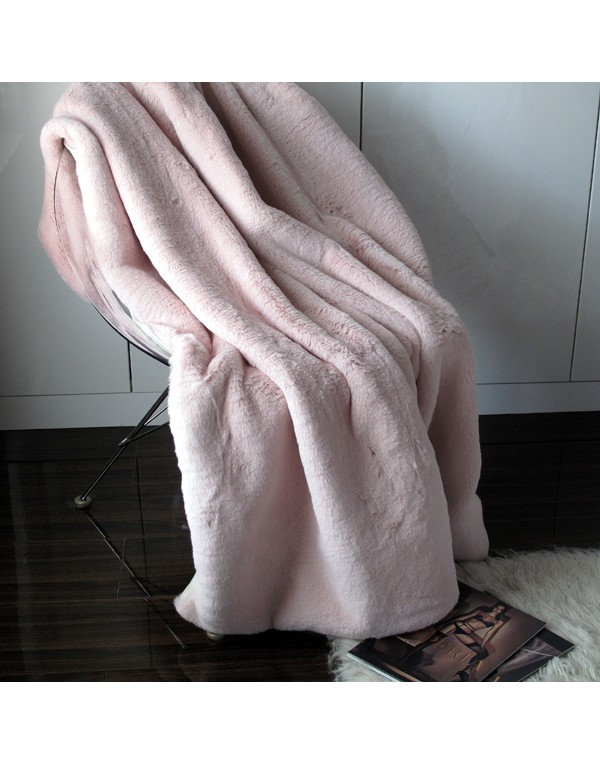 Richmond Pink Faux Fur Throw