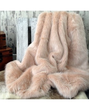 Candyfloss Pink Fur Throw