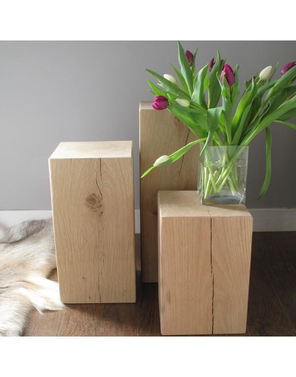 Oak Side Tables, Set of 3 Light Oak Block Lamp Tables , faux-fur-throws