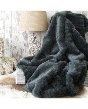 Badger Fur Throw