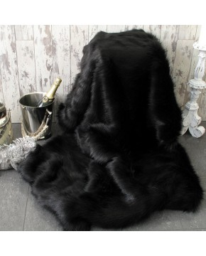 Black Bear Fur Throw