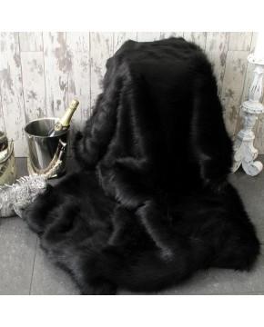 Faux Fur Throws, Black Bear Faux Fur Throw , faux-fur-throws