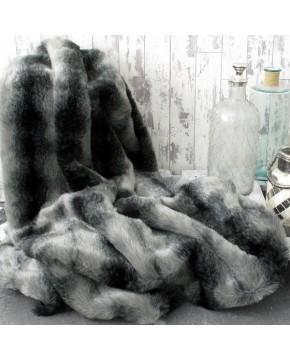 Black Wolf Fur Throw
